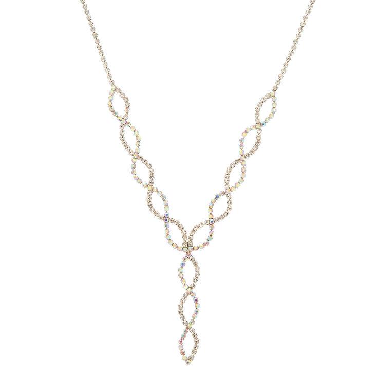Crystal Loop Y-Neck Statement Necklace,