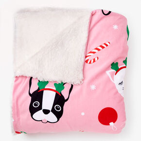Holiday Critter Blanket - Pink,