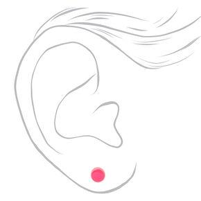 Clous d'oreilles phosphorescents pois fluo - Lot de 3,