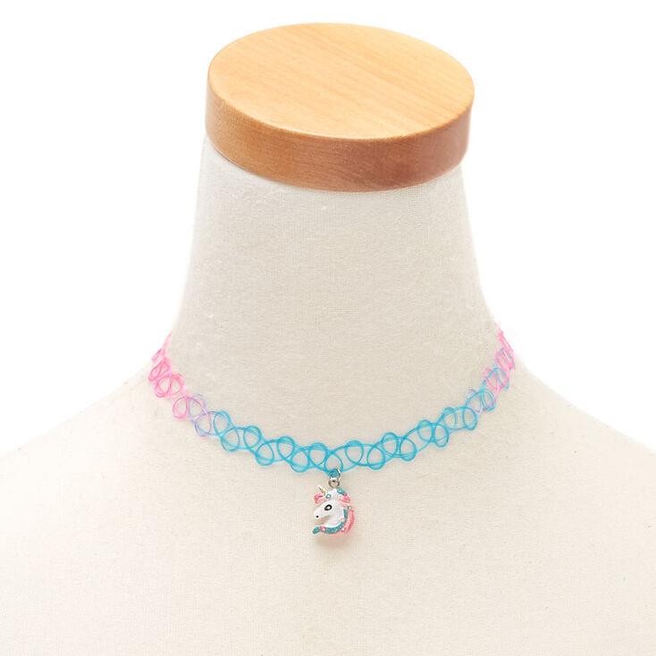 Claire's Club Rainbow Unicorn Choker Necklace,
