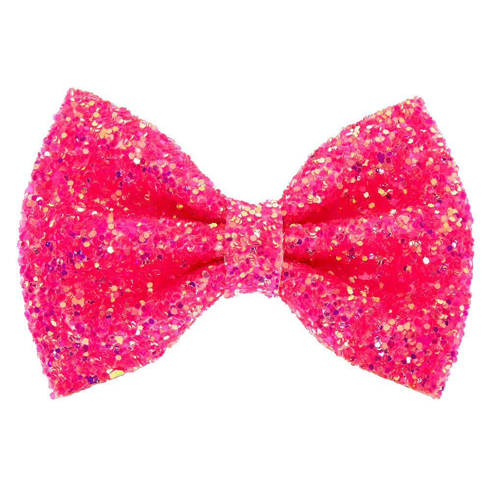 pink clip on hair bows