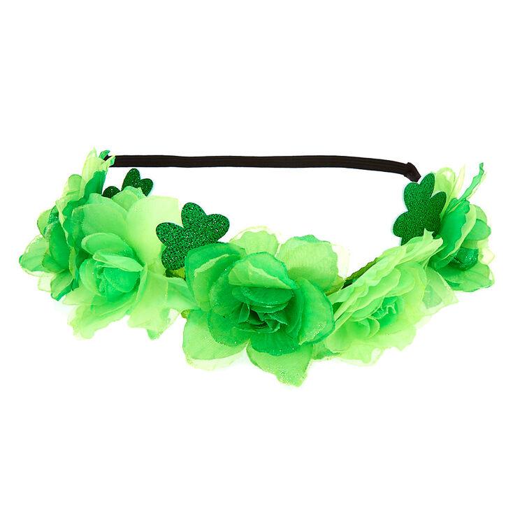 Couronne de fleurs trèfles - Vert,