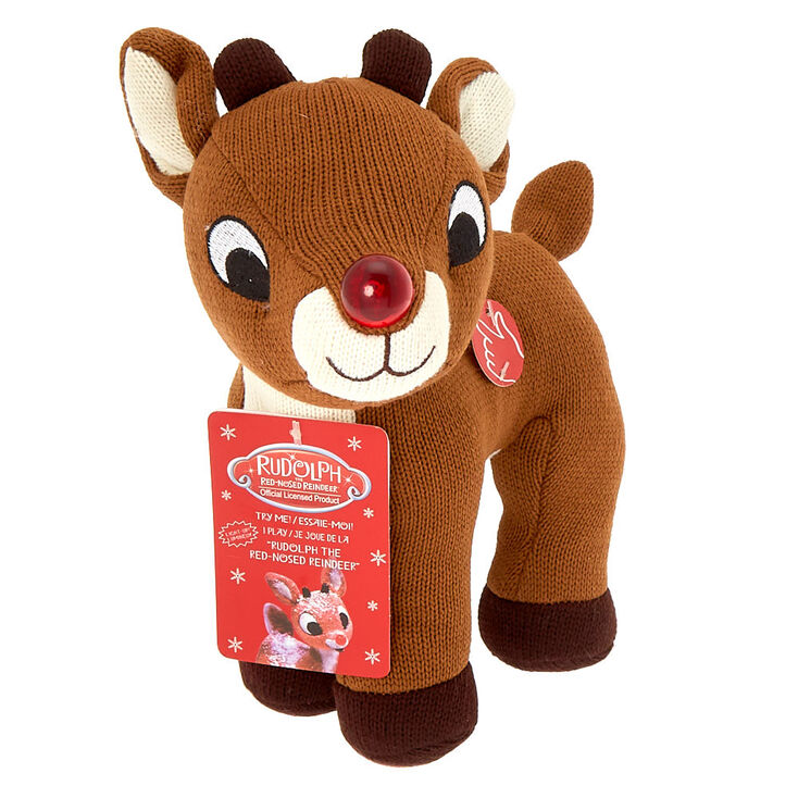 Rudolph The Red Nosed Reindeer >> Rudolph The Red Nosed Reindeer Scented Singing Plush Toy Claire S Us