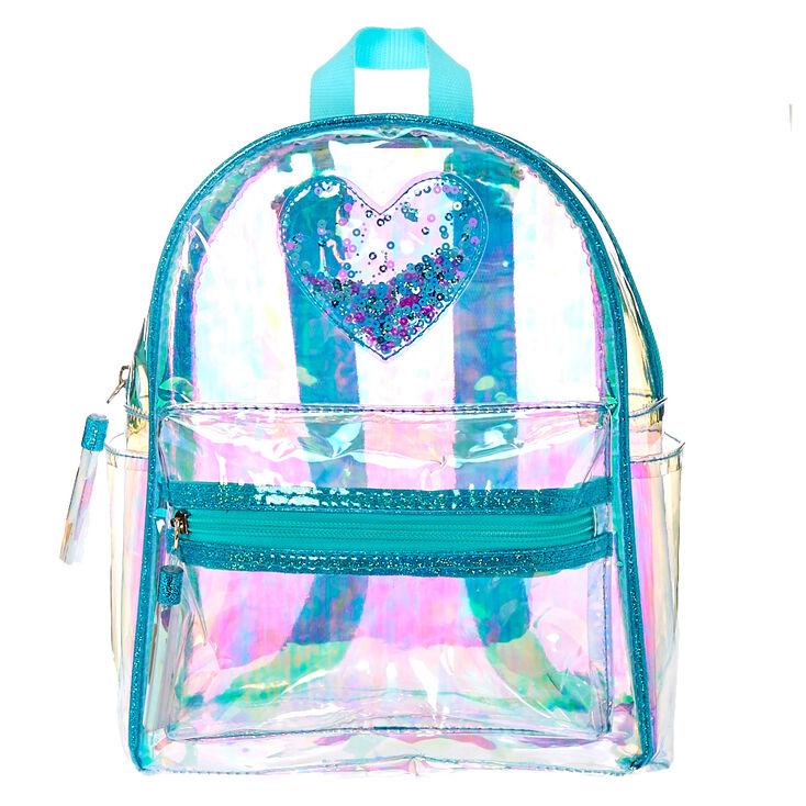 005eff1c93 Clear Iridescent Mint Mini Backpack