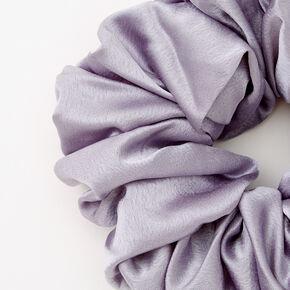 Giant Silk Hair Scrunchie - Gray,