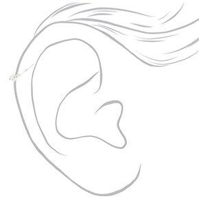 Silver Hoops + Stud Cartilage Earrings - 3 Pack,