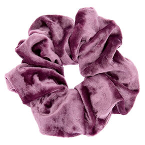Medium Velvet Hair Scrunchie - Lilac,