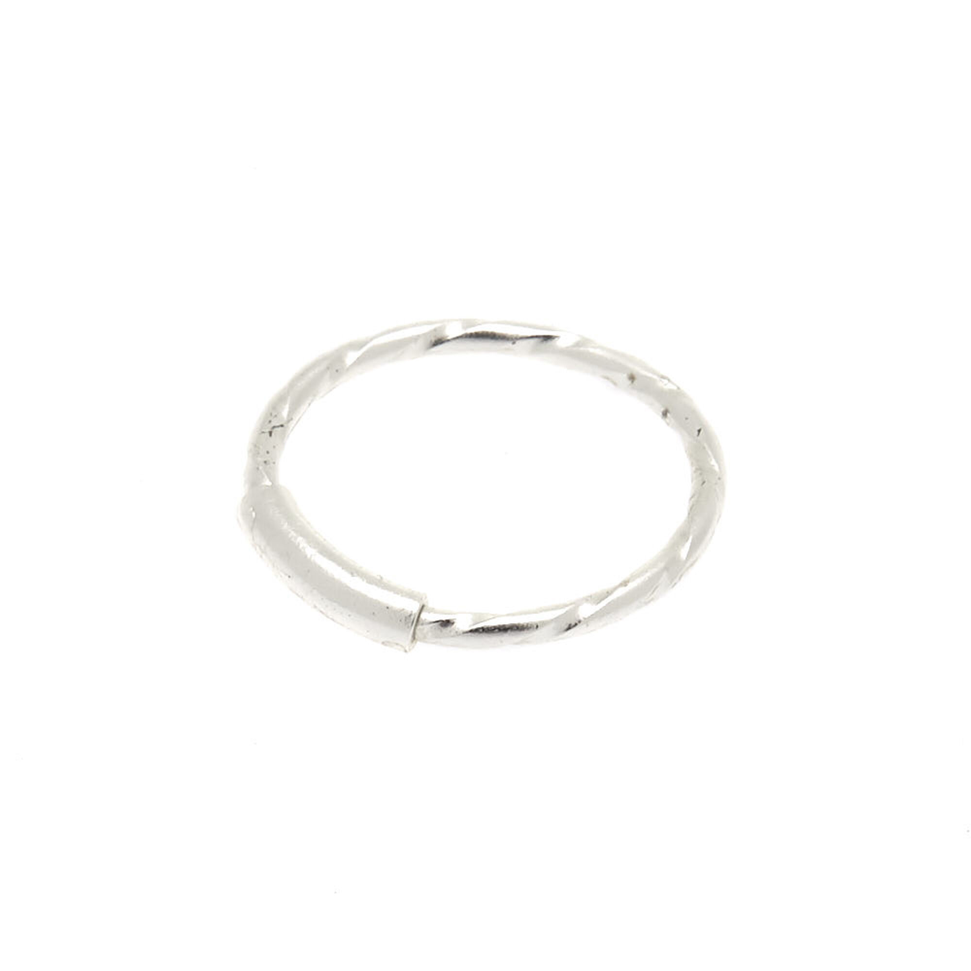 Sterling Silver 22g Twist Bar Nose Ring Claire S