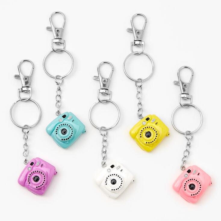 Best Friends Rainbow Camera Keyrings - 5 Pack,