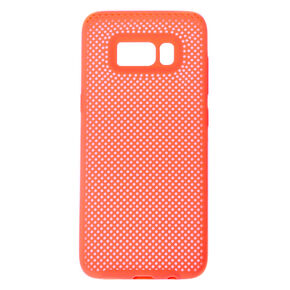 Neon Coral Perforated Phone Case - Fits Samsung Galaxy S8,