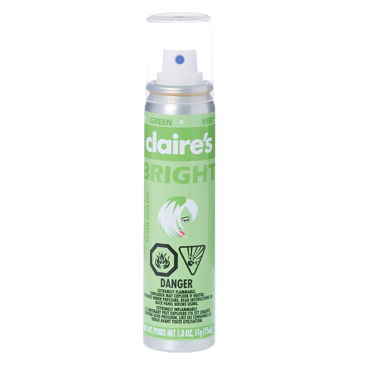 Green Bright Hair Color Spray Claires Us