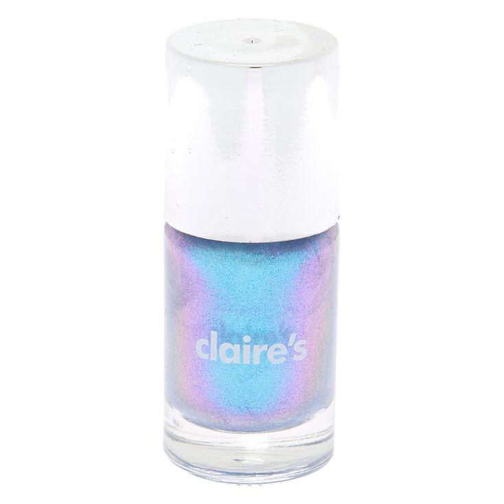 Shimmer Nail Polish - Blue Holo,