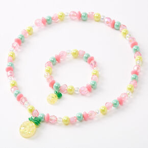 Claire's Club Beaded Pineapple Jewellery Set - 2 Pack,