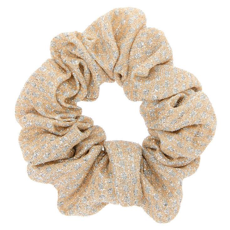 Medium Gold & Silver Lurex Hair Scrunchie,