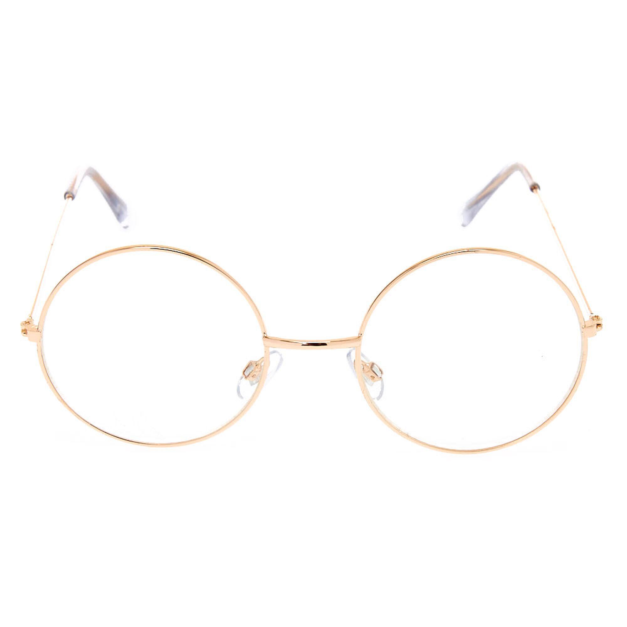 Monture de lunettes ronde couleur doré   Claire s FR cdabf9d3e3af