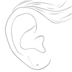 Clous d'oreilles étoile chaîne en argent,