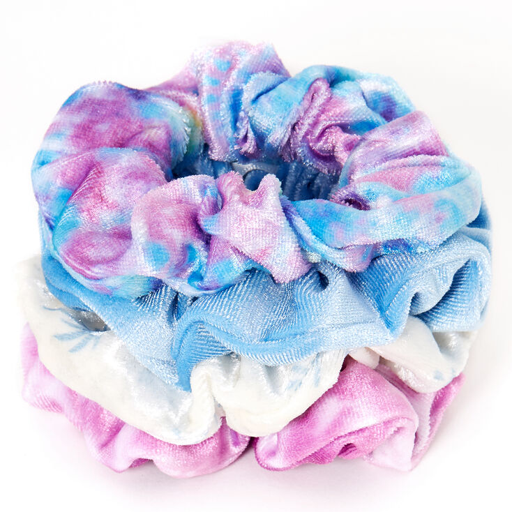 Sky Brown™ Small Hair Scrunchies – Blue, 4 Pack,