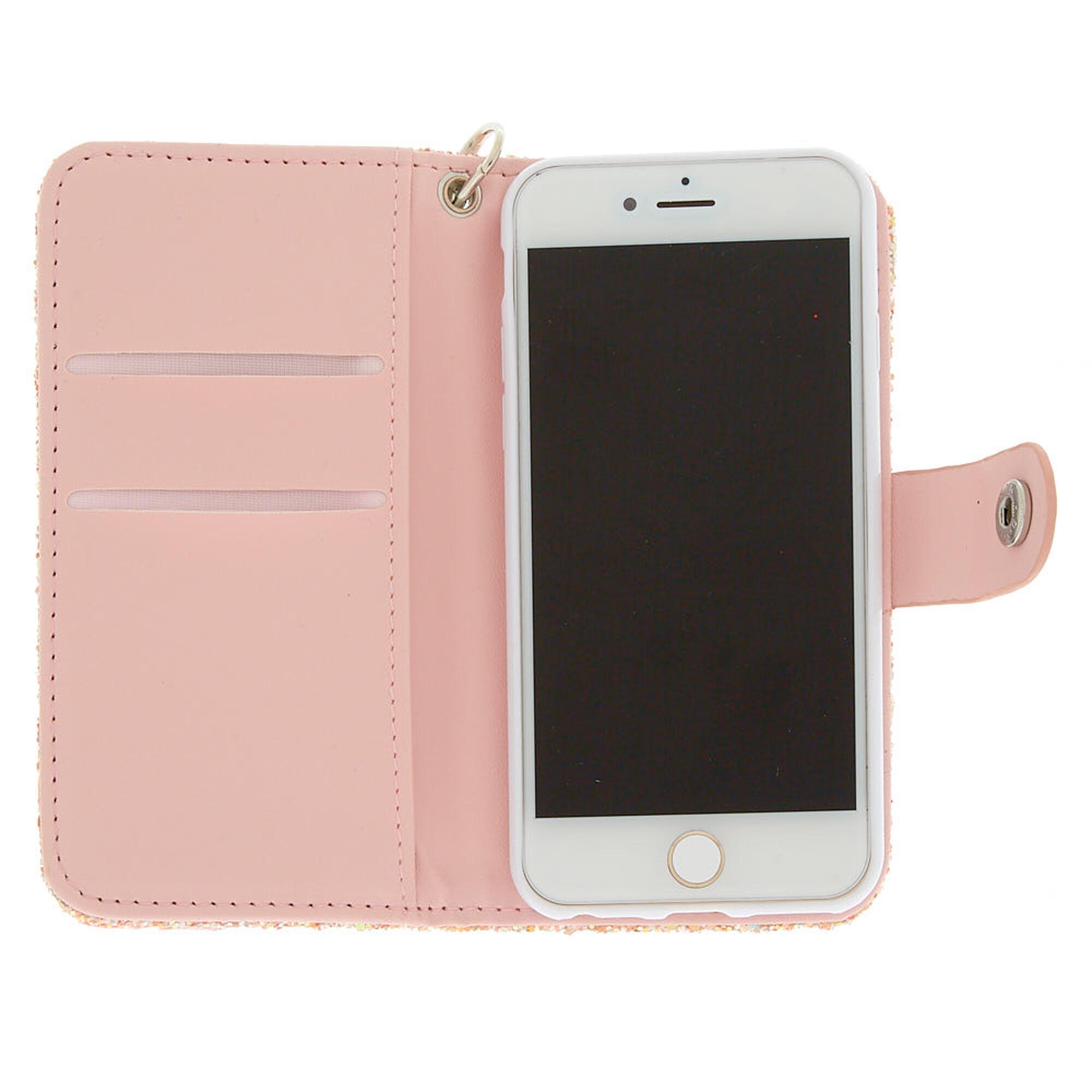 quality design 52867 30cf7 Blush Crushed Glitter Folio Phone Case - Fits iPhone 5/5S/5SE