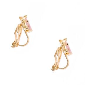 Pink Unicorn Clip On Earrings