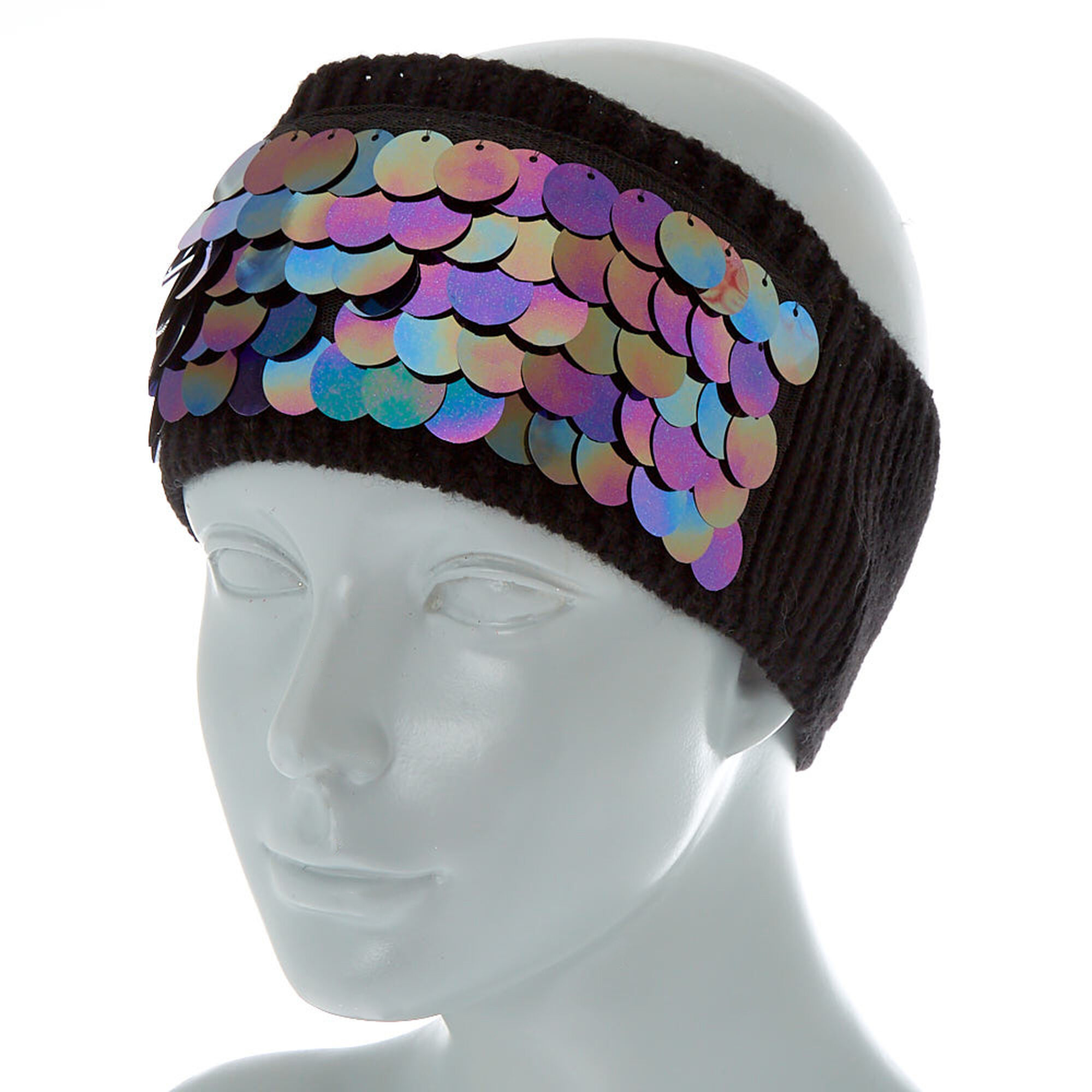 ... Chunky Sequin Ear Muff Headband - Black 4705526a112