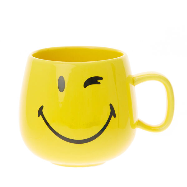 Claire's - smiley world face mug - 1
