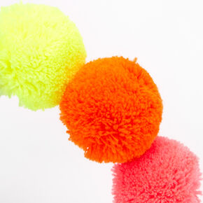 Rainbow Pom Pom Headband,