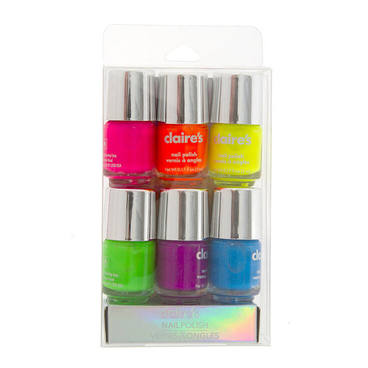 Neon Nail Polish Set - 6 Pack,