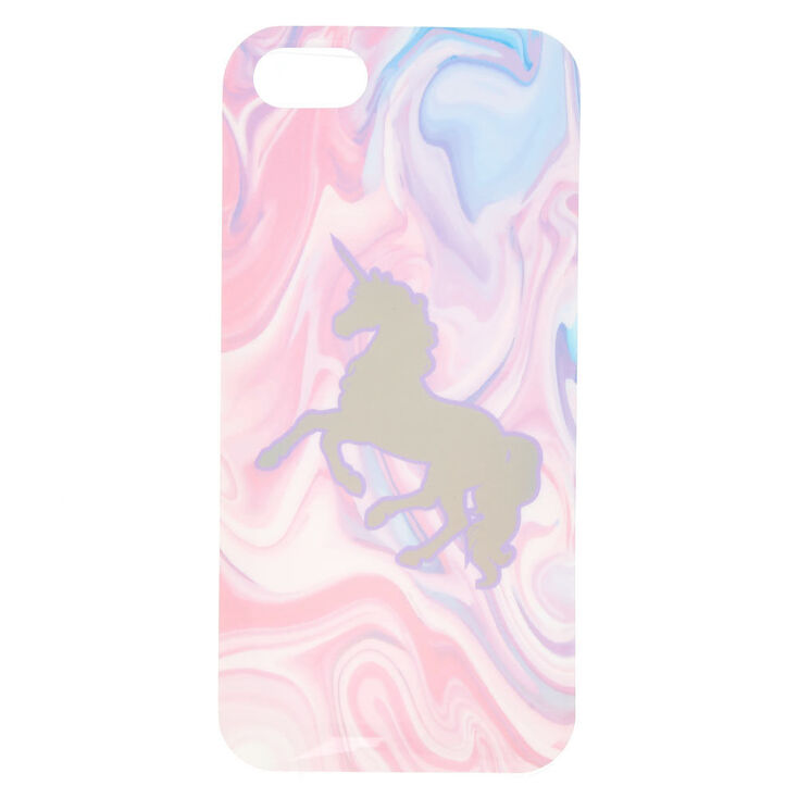 watch 66149 61450 Marble Holographic Unicorn Phone Case - Fits iPhone 5/5S/SE
