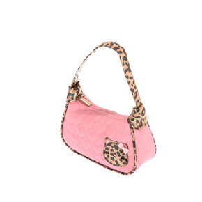 Claire's Club Quilted Heart Purse - Pink,