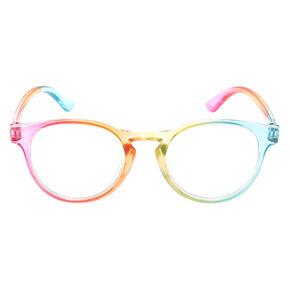 Claire's Club Rainbow Round Clear Lens Frames,