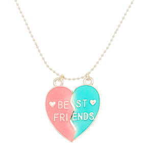 Best Friends Glow In The Dark Heart Pendant Necklaces - 2 Pack,