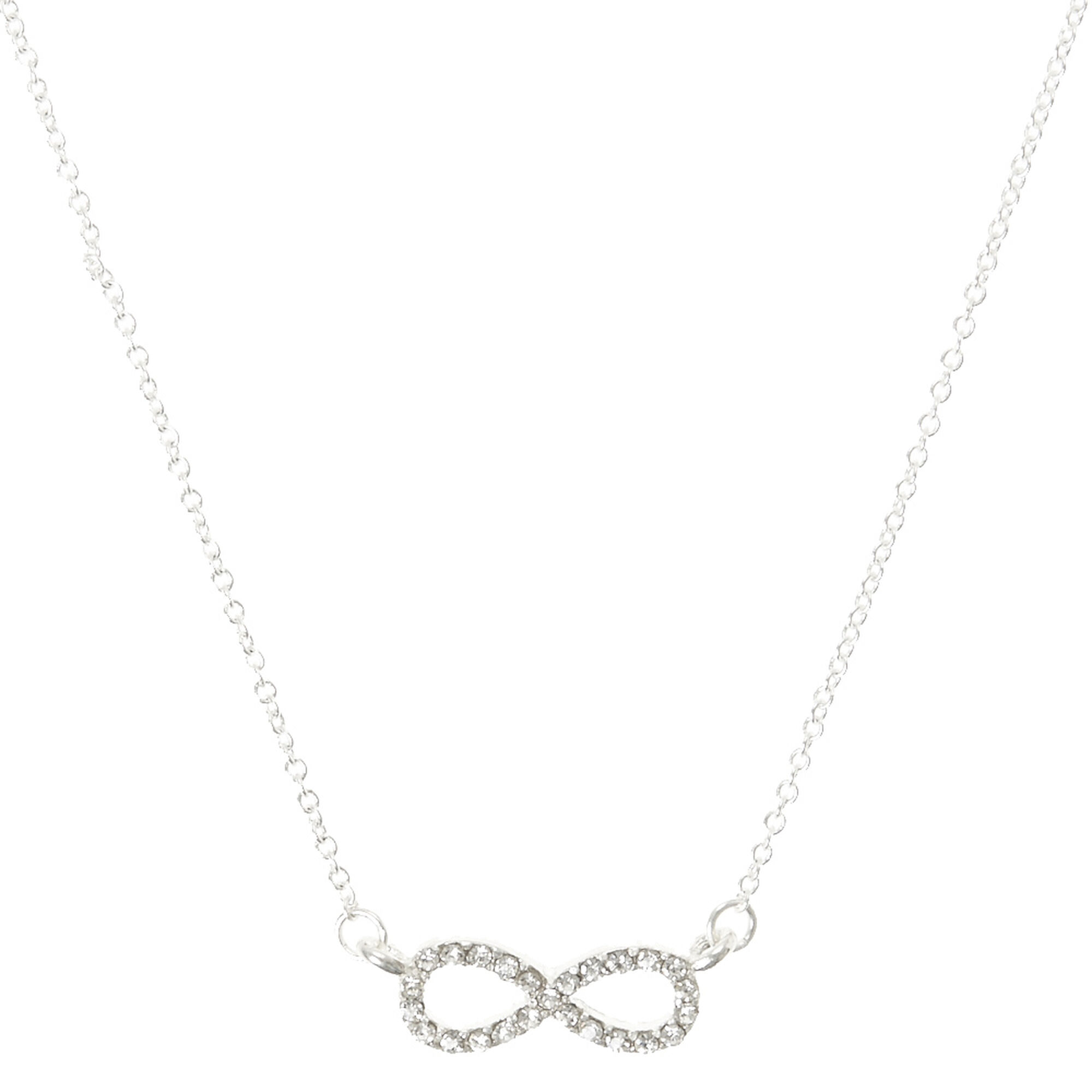 and zirconia shop gold rose jewellery ladies silver with chain on pendant cubic infinity