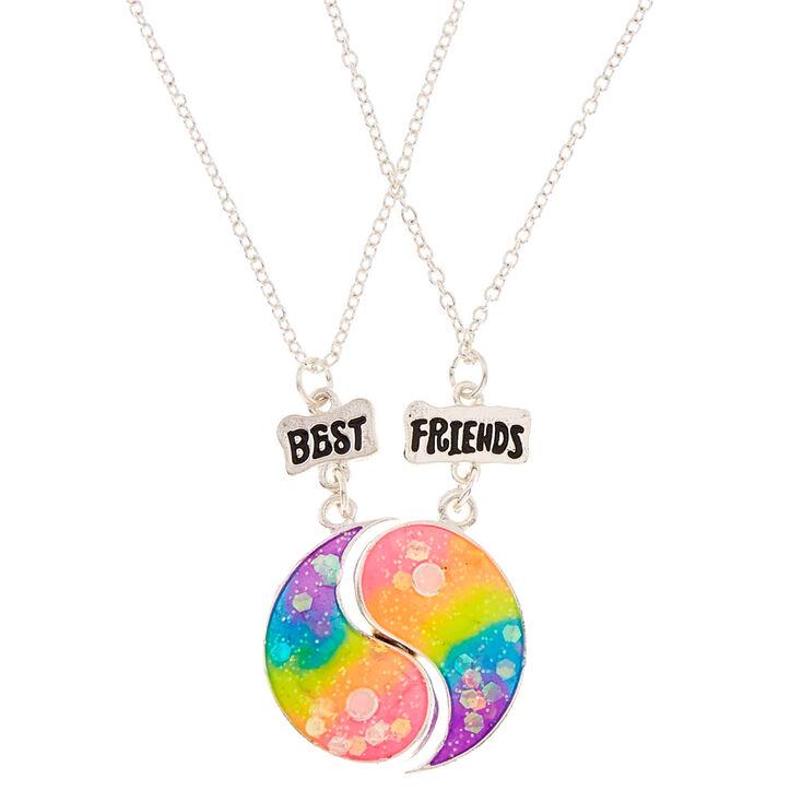 chaussures de séparation hot-vente plus récent bon service Best Friends Rainbow Yin Yang Pendant Necklaces