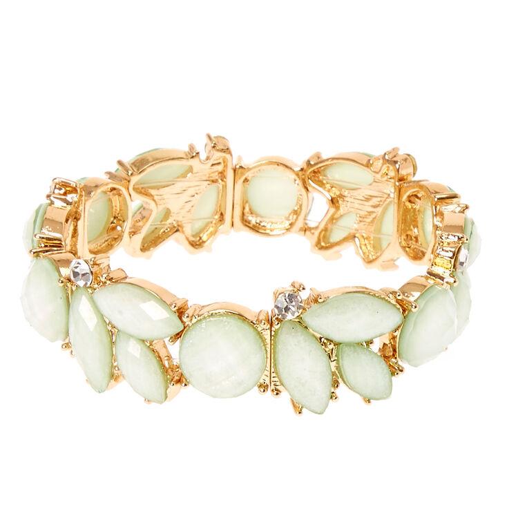 Mint Flower Stretch Bracelet,