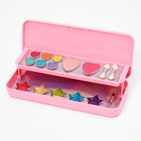 Rhinestone Hearts Bling Makeup Case,