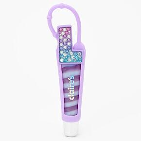 Initial Lip Gloss Tube - Purple, L,