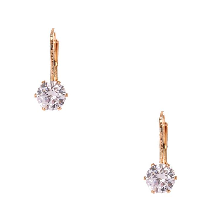 2ad099691 Cubic Zirconia Gold-tone Mini Hoop Earrings | Claire's US