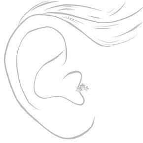 Boucles d'oreilles tragus étoile en métaux mixtes - Lot de 3,