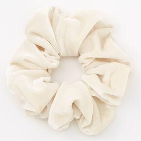 Medium Flat Velvet Hair Scrunchie - Ivory,