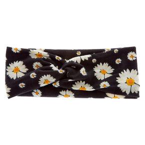 Daisy Twisted Headwrap - Black,