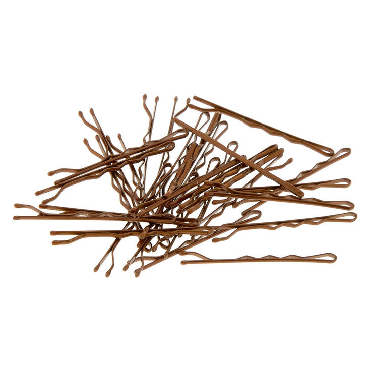 Brunette Bobby Pins - Brown, 30 Pack,