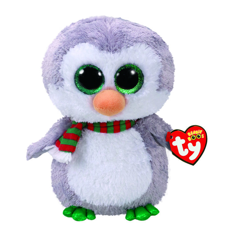 17ddc617742 Ty Beanie Boo Chilly the Penguin Medium Plush Toy