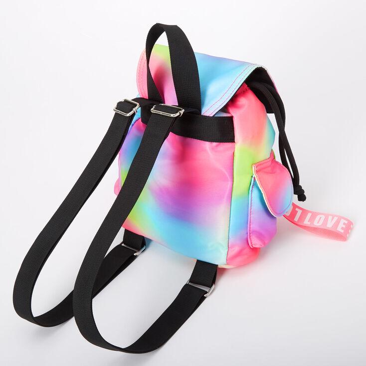 Rainbow Tie Dye Nylon Mini Backpack,