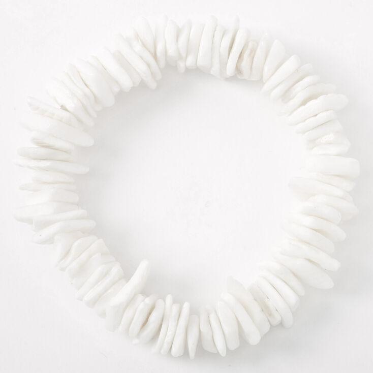 Puka Shell Stretch Bracelet - White,