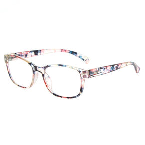 Floral Rectangle Clear Lens Frames,