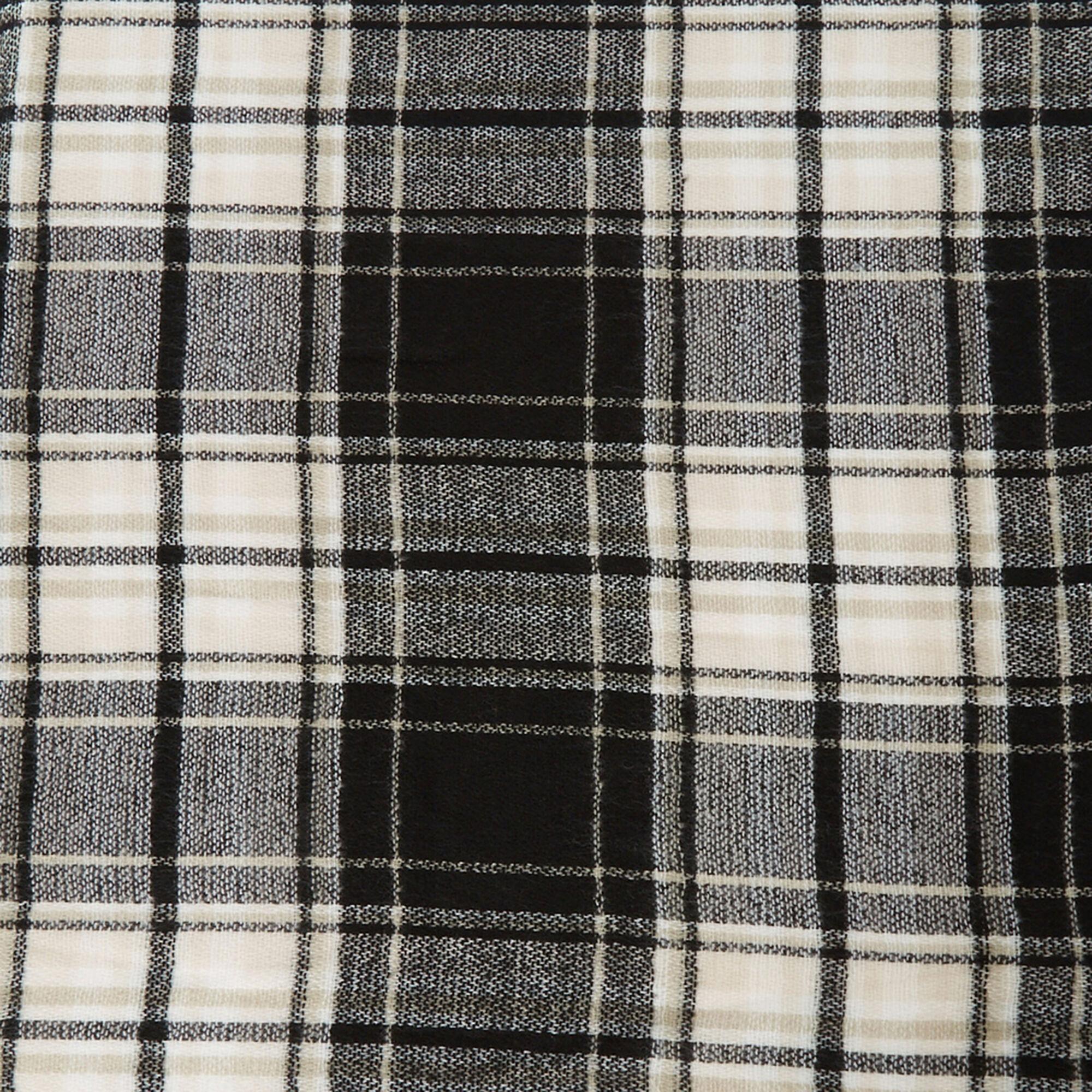 Black And White Plaid Blanket.Black And White Plaid Blanket Scarf