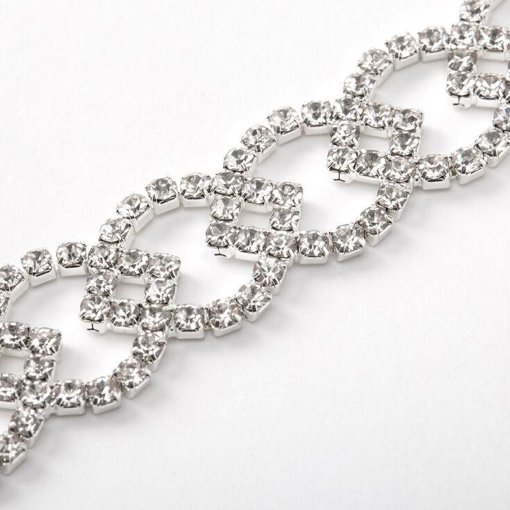 Bracelet chaîne motif citron en strass couleur argentée,