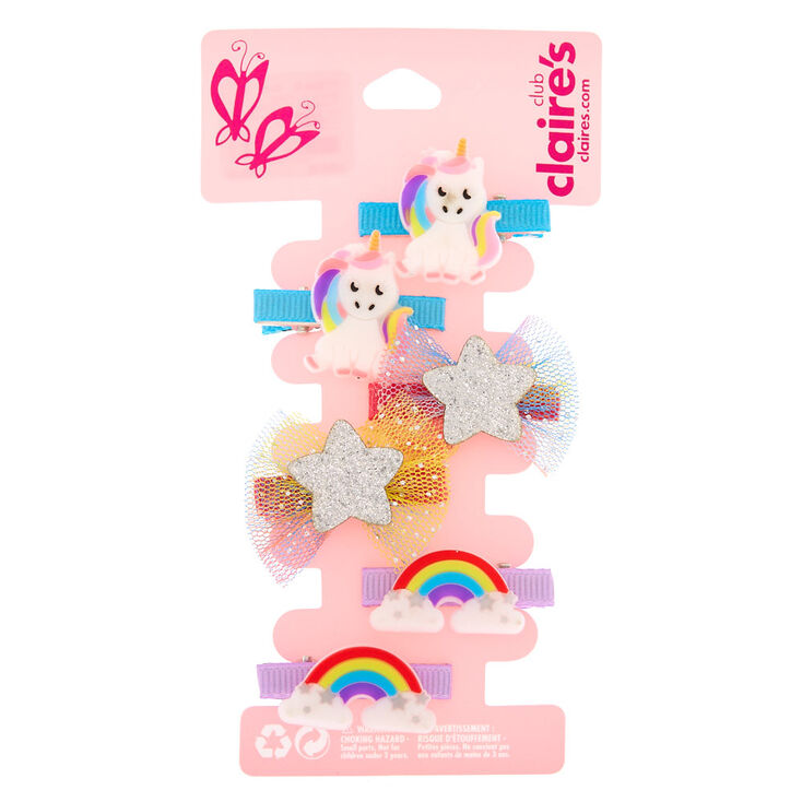 Claire's Club Magical Silicone Hair Clips - 6 Pack,
