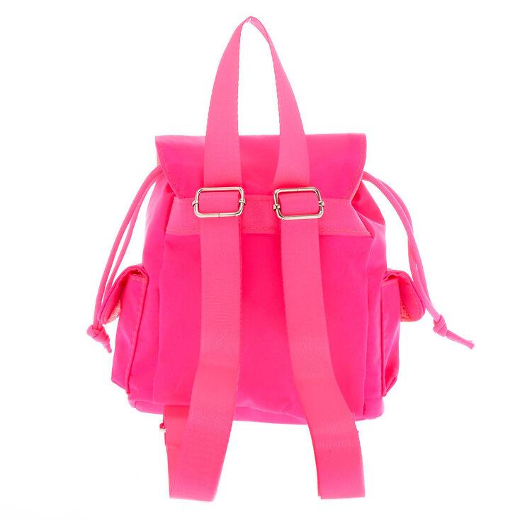 Nylon Mini Backpack - Hot Pink,