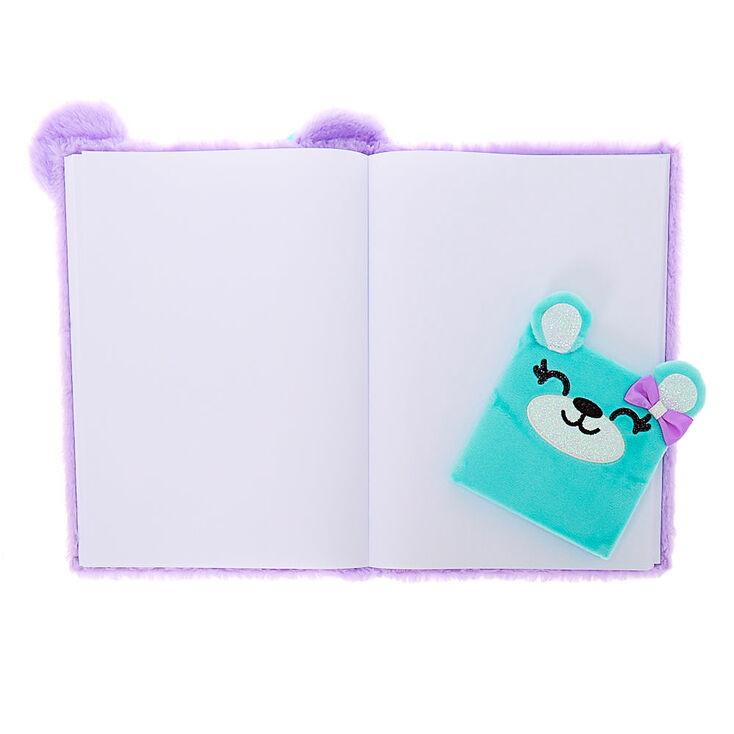 Brooke the Bear Soft Sketchbook Set - Purple, 2 Pack,